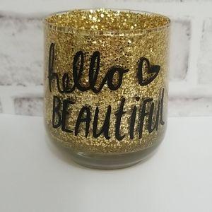 3/$20 Hello Beautiful Glitter Makeup Brush Holder